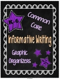 Expository Writing Common Core Graphic Organizers {Grades