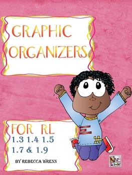 No Prep Reading Response Graphic Organizers