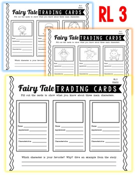 Common Core Graphic Organizers for Well-Known Fairy Tales