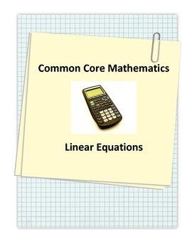 Common Core Linear Equations