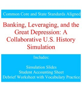 Banking and the Great Depression: a Collaborative U.S. History Simulation