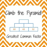 Common Core - Greatest Common Factor, GCF - Climb the Pyramid!