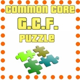 Common Core - Greatest Common Factor Puzzle - GCF Math Fun!