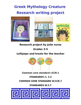 Greek Mythological Creatures Research and Writing Project-
