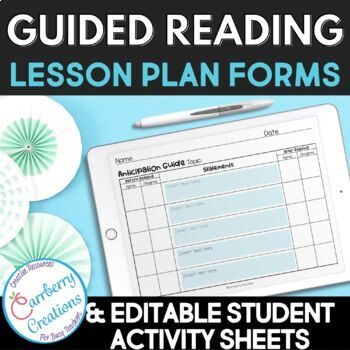 Guided Reading Lesson Plan Templates