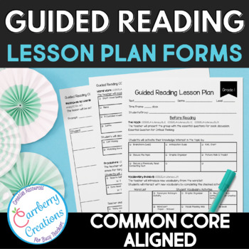 Common Core Guided Reading Lesson Plan Form