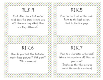 Common Core Guided Reading Task Cards