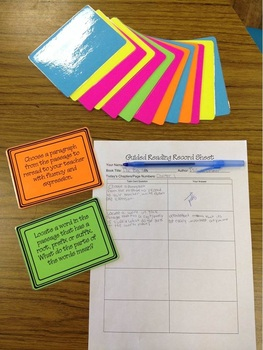 Common Core Guided Reading Task Cards: INKSAVER B&W (grades 4-8)