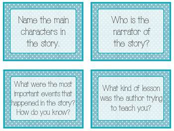 Common Core Guided Reading Task Cards: POLKA DOTS (grades 2-4)