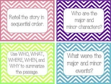 Common Core Guided Reading Task Cards: CHEVRON (grades 4-8)