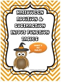 Common Core Halloween Addition Subtraction Function Tables (3 Levels)
