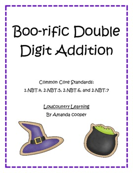 Common Core Halloween Double Digit Addition