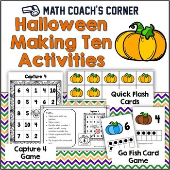 Common Core: Halloween Making 10 Math Activities