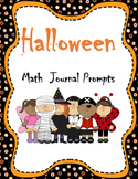 Common Core Halloween Math Journal Prompts