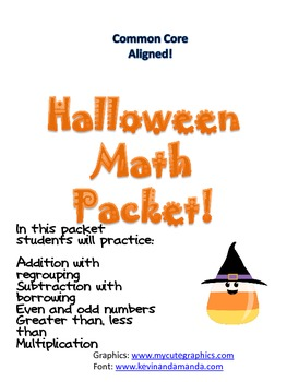 Common Core Halloween Math Review Packet!