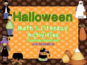 Halloween Fun  Math and Literacy Unit