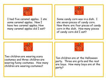 Common Core Halloween Story Problems