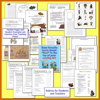 Common Core Halloween, Thanksgiving, and Holiday Writing BUNDLE