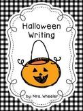 First Grade Halloween Writing