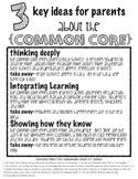 Common Core Handout for parents