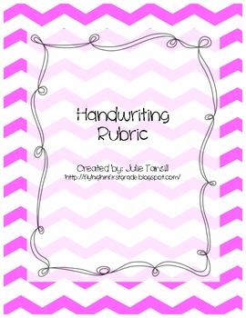 Common Core Handwriting Rubric