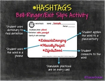 #Hashtags Reading & Vocabulary Bell Ringer Activities