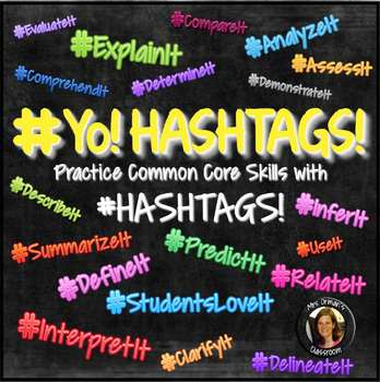 Common Core #Hashtags Reading & Vocabulary Bell Ringer Activities