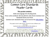 Common Core Header Cards, Zebra