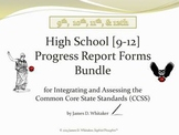 Common Core High School ELA Grades 9-12 Progress Report Bundle