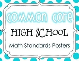 Common Core High School Math Standards Posters {Polka Dot Edition}