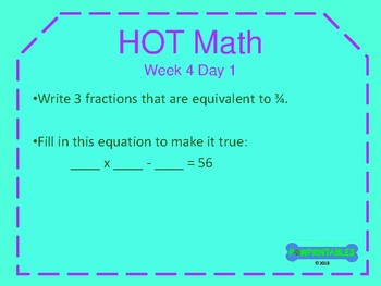 Higher Order Thinking Math Warm-Up - 5th Grade NO PREP! Common Core Aligned