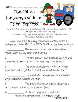 Christmas Holiday Activities with the Polar Express -w/Common Core Standards!