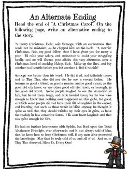 """Christmas Center: """"A Christmas Carol"""" Creative Writing Center"""