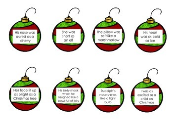 Common Core Holiday Figurative Language Game