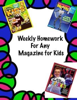 Common Core Homework -  Magazines for Kids