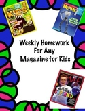 Common Core Homework -  Magazines for Kids