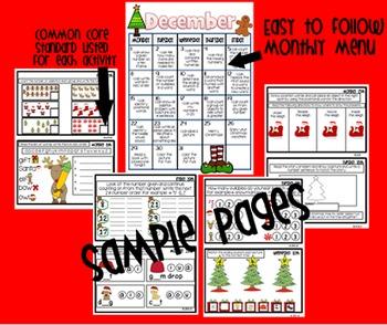 Common Core Homework Packet for December