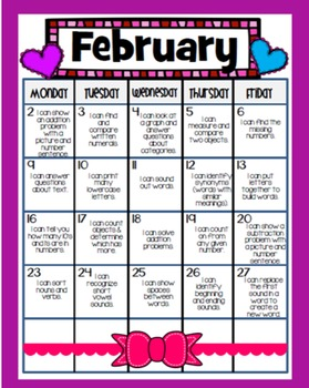 Common Core Homework Packet for February