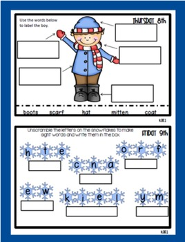 Common Core Homework Packet for January