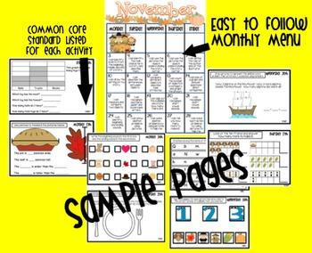 Common Core Homework Packet for November