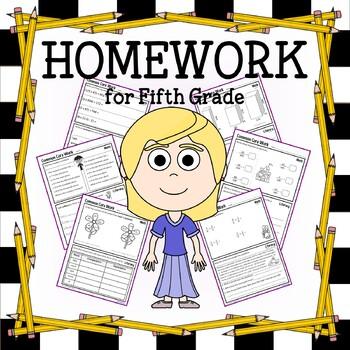 Homework for Fifth Grade Common Core