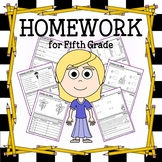 Homework for Fifth Grade Common Core