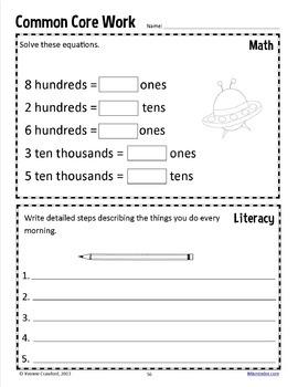 Homework for Fourth Grade Common Core
