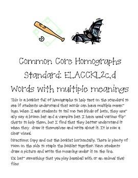 Common Core Homograph book