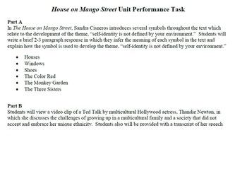 Common Core House on Mango Street Unit Learning Tasks