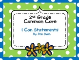 """Common Core """"I CAN"""" Statement Full Page Posters ~Grade 2"""
