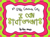 """Common Core """"I CAN"""" Statement Full Page Posters ~Grade 4"""