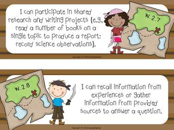 "Common Core ""I Can"" Cards 2nd Grade Language Arts Pirate Theme"