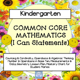 "Common Core, ""I Can,"" Cards Mathematics for Kindergarten"