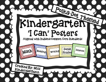 """Common Core """"I Can"""" Posters"""